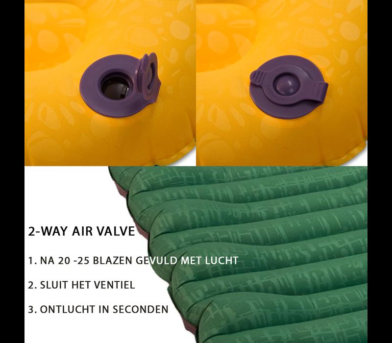 LOWLAND OUTDOOR® slaapmat 198 cm x 66 cm x 10 cm - R-Value 1,8