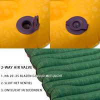 LOWLAND OUTDOOR® insulated sleeping pad  - 198 cm x 66 cm x 10 cm - R-Value 5,2