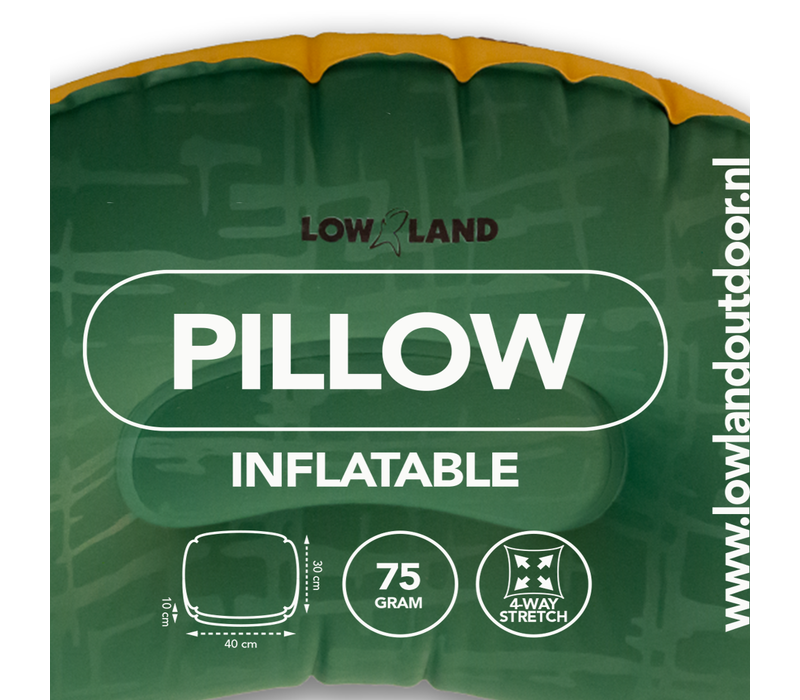 LOWLAND OUTDOOR® Pillow inflatable - 45 cm x 30 cm x 10 cm