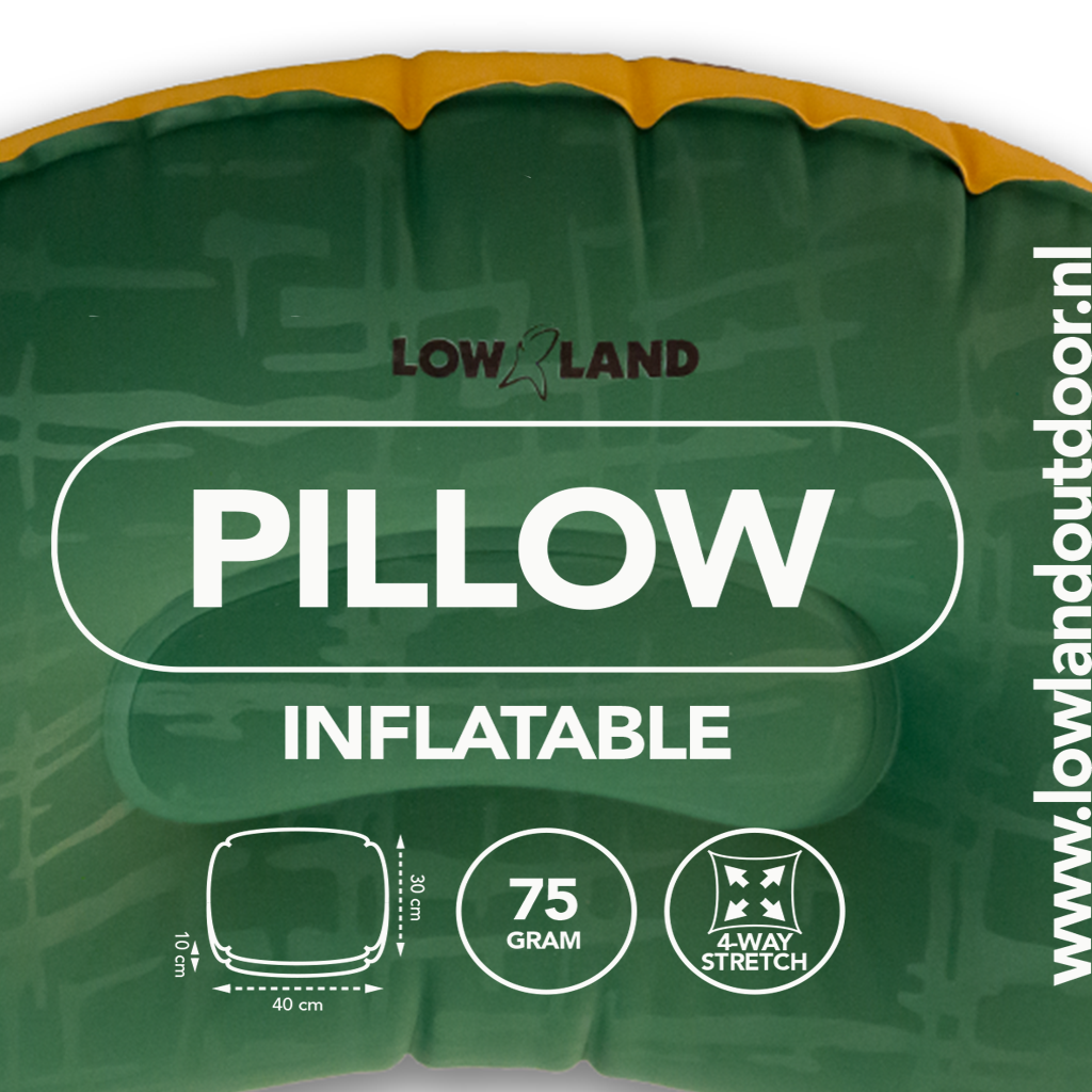Lowland Outdoor LOWLAND OUTDOOR® Pillow inflatable - 45 cm x 30 cm x 10 cm