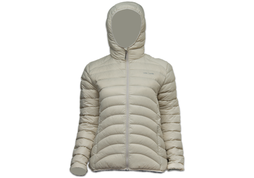 Lowland Outdoor OPTIMUM Donsjas - Woman - Hoody - Bone