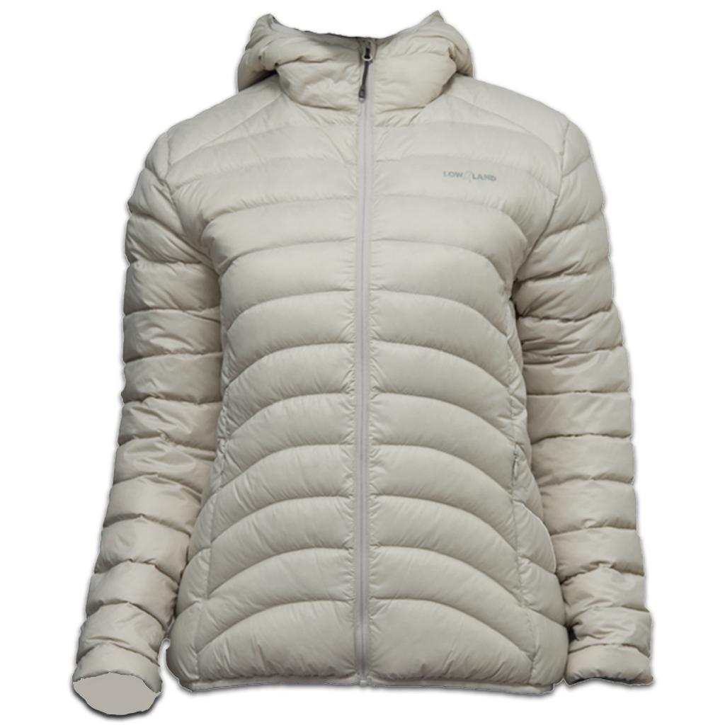 Lowland Outdoor LOWLAND OUTDOOR®  OPTIMUM Down jacket - Woman - Hoody - Bone