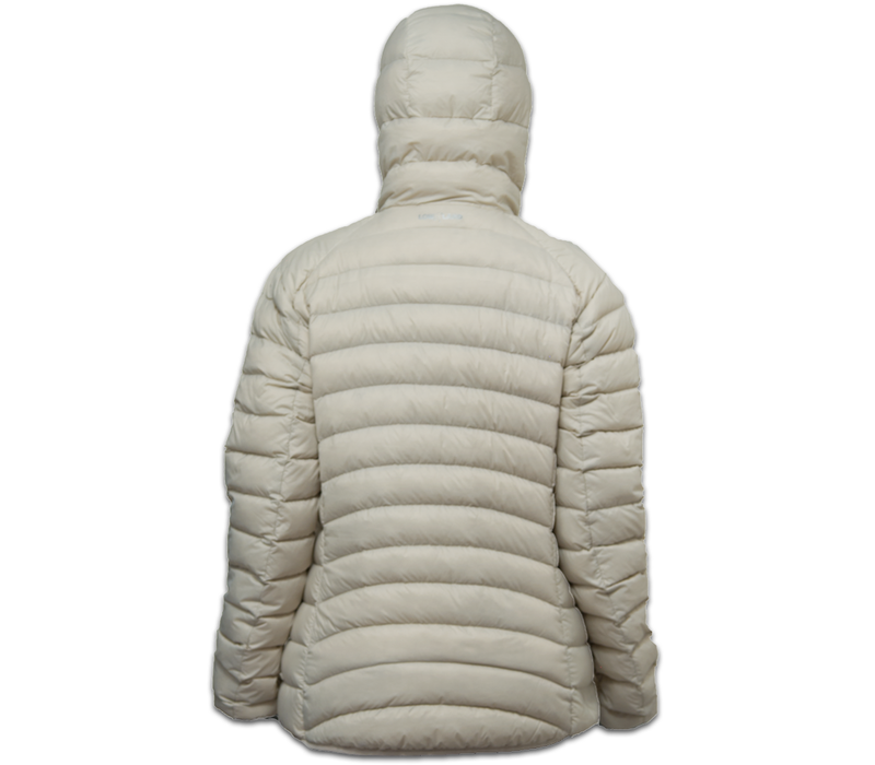 LOWLAND OUTDOOR®  OPTIMUM Donsjas - Woman - Hoody - Bone