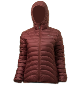 Lowland Outdoor OPTIMUM Down jacket - Woman - Hoody - Plum