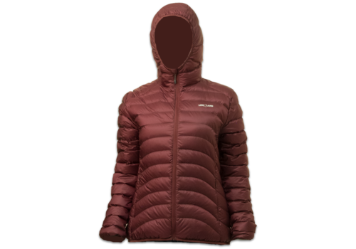 Lowland Outdoor OPTIMUM Donsjas - Woman - Hoody - Plum