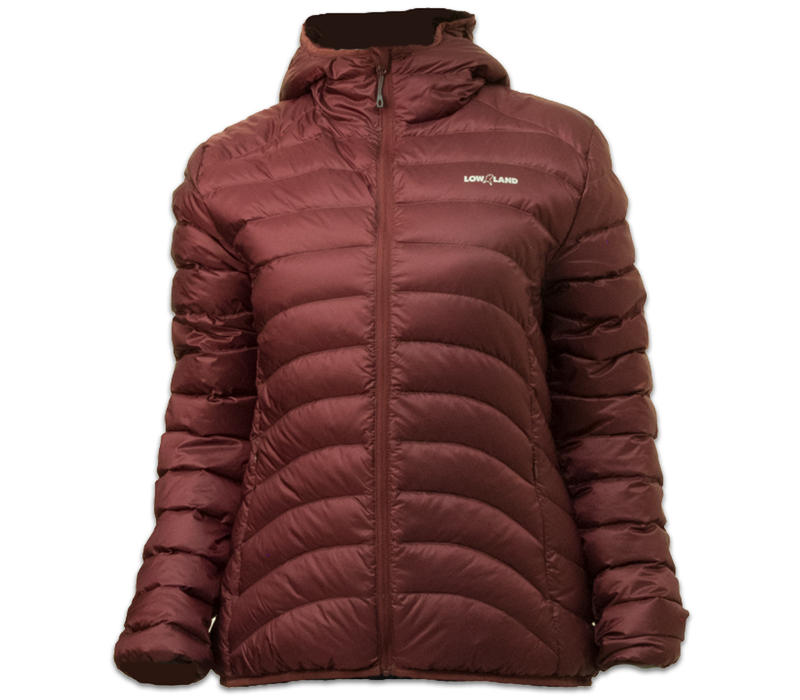 LOWLAND OUTDOOR®  OPTIMUM Down jacket - Woman - Hoody - Plum
