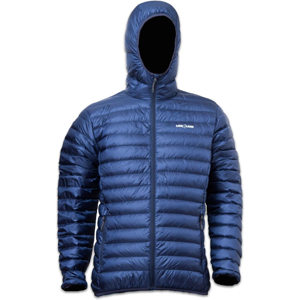 Lowland Outdoor LOWLAND OUTDOOR®  OPTIMUM Down jacket - Men - Hoody - Navy