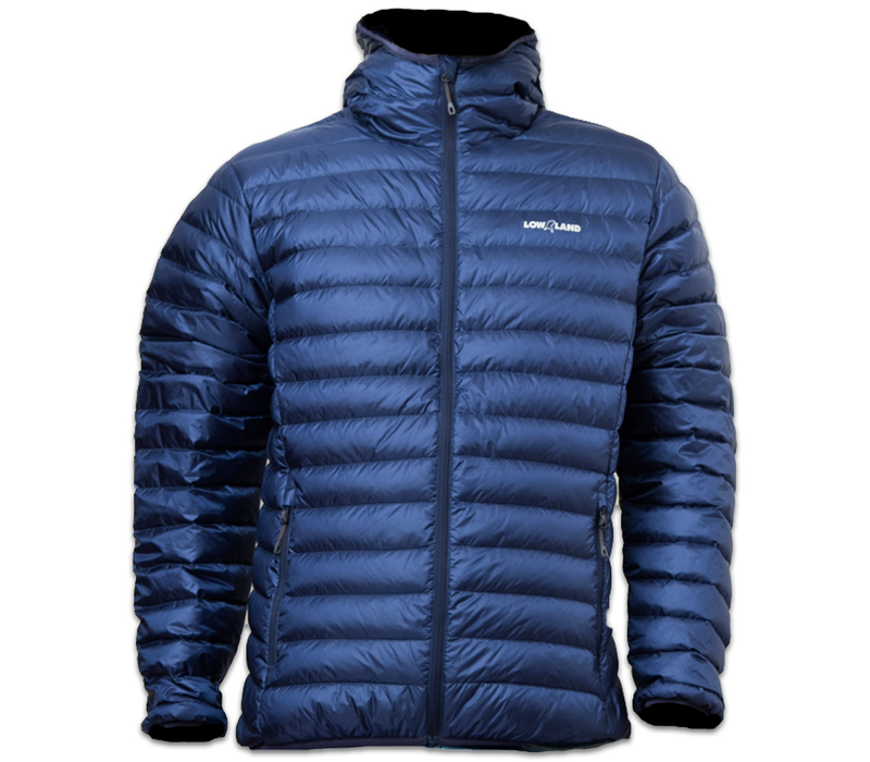 LOWLAND OUTDOOR® OPTIMUM Down jacket - Men - Hoody - Navy