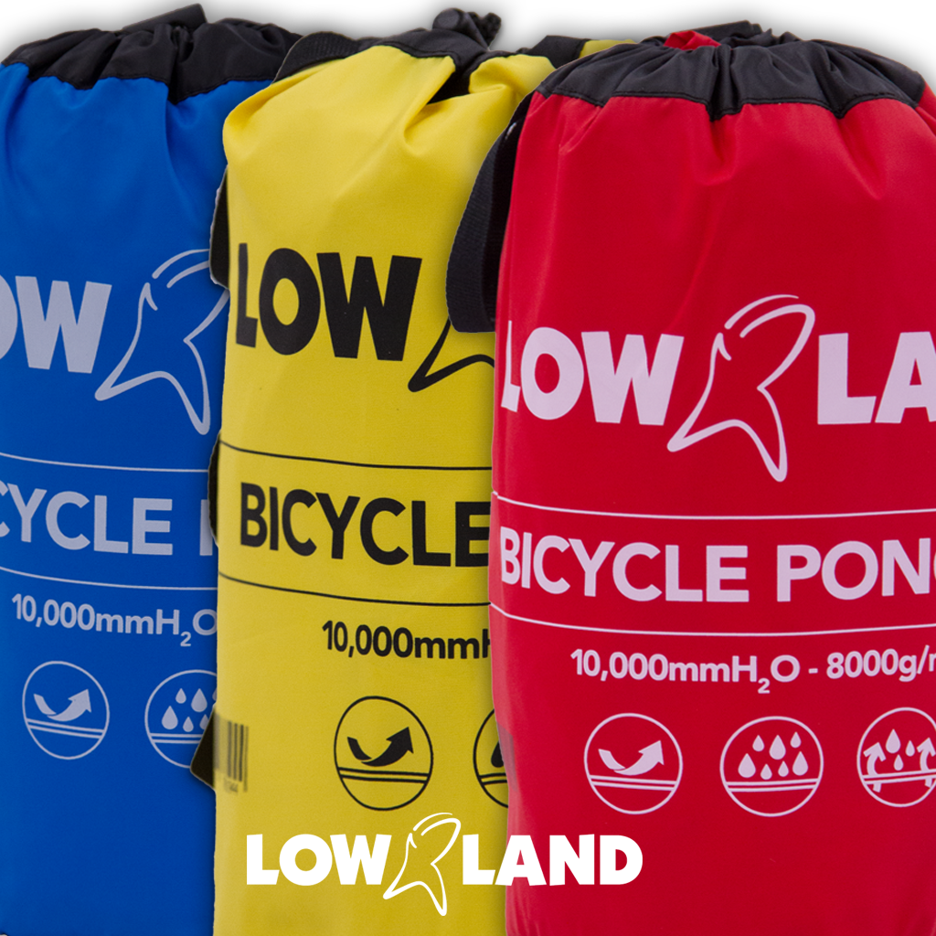 Lowland Outdoor LOWLAND OUTDOOR® Bicycle Poncho - 100% waterproof (10.000mm) - Highly Breathable (8.000g/M²) CFK free!