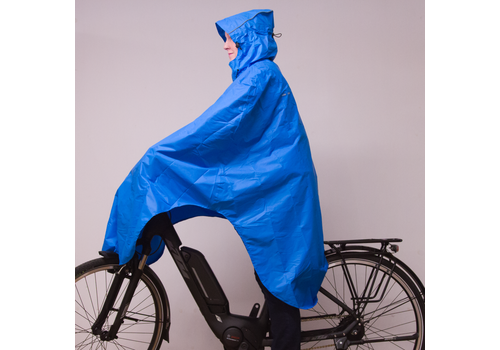 Lowland Outdoor Poncho imperméable velo - 100% imperméable (10.000mm) - ventilation efficace (8.000g/M²)