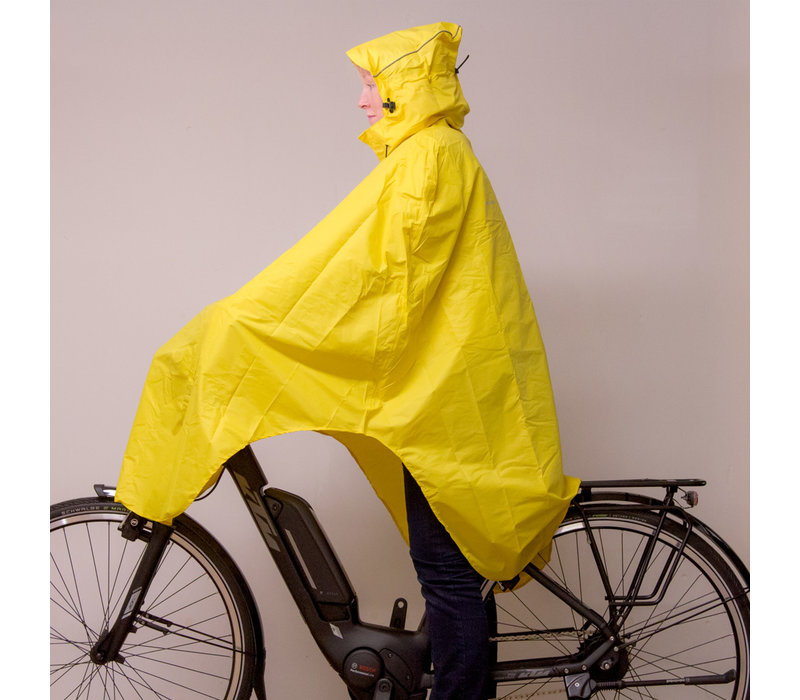 LOWLAND OUTDOOR® Bicycle Poncho - 100% waterproof (10.000mm) - Highly Breathable (8.000g/M²) CFK free!