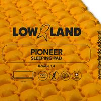 LOWLAND OUTDOOR® Pioneer isomatte 195 cm x 60 cm x 6 cm - R-Value 1,4