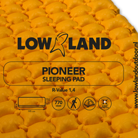 LOWLAND OUTDOOR® Pioneer slaapmat 195 cm x 60 cm x 6 cm - R-Value 1,4