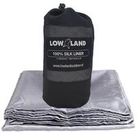 LOWLAND OUTDOOR® Sac a viande - 100% Soie naturelle - 2 pers - 220x160 cm - 255g