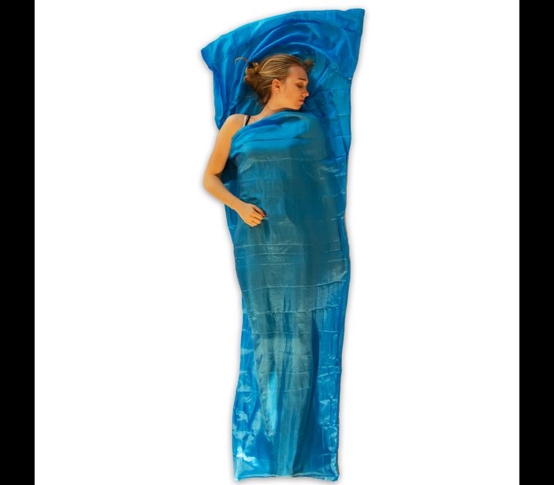 LOWLAND OUTDOOR® Sábana saco de seda 100% - mummy - 220 x 80/70 cm - 95gr