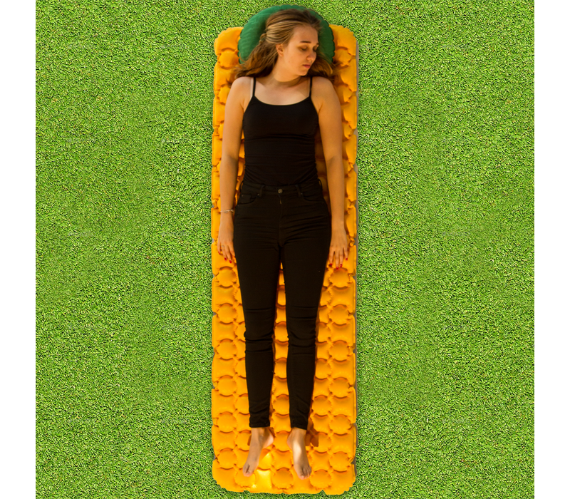 LOWLAND OUTDOOR® Pioneer sleeping pad 195 cm x 60 cm x 6 cm - R-Value 1,4