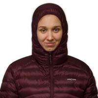 LOWLAND OUTDOOR®  OPTIMUM Daunenjacke - Woman - Hoody - Plum