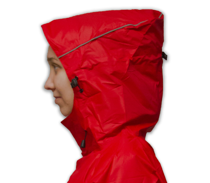 LOWLAND OUTDOOR® Poncho imperméable velo - 100% imperméable (10.000mm) - ventilation efficace (8.000g/M²)