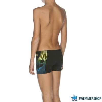 Arena Zwembroek B Espiral Jr Short black/soft-green