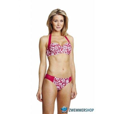 Speedo Halterneck Cup Bikini Red/White