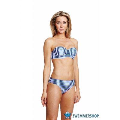 Speedo Halterneck Bandeau Bikini Blue/White