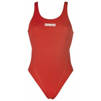 Arena W Solid Swim Tech High red/white