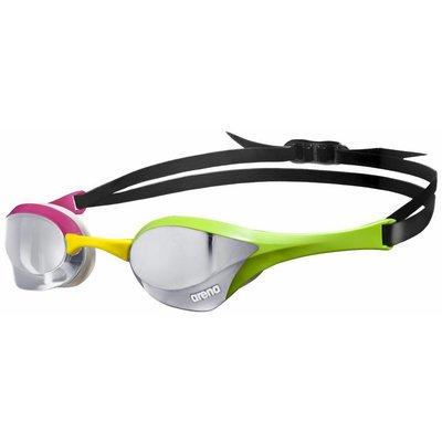 Arena Cobra Ultra Mirror Wedstrijdzwembril Zilver Groen Roze