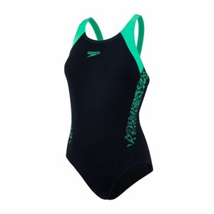 Speedo W End Boom Splice Muscleback Black/green