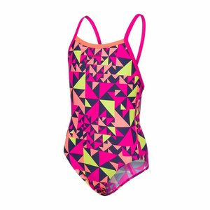 Speedo Girls Pool E10 Fluotime Allover Thinstrap Crossback