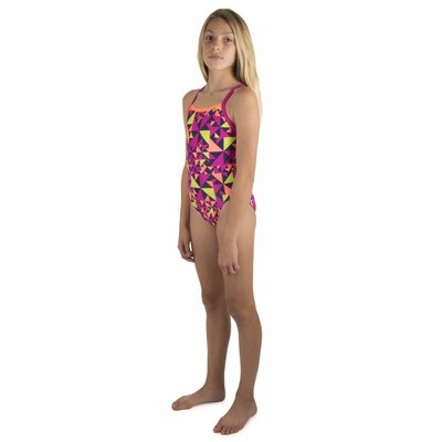 Speedo Girls Pool E10 Fluotime Allover Thinstrap Crossback
