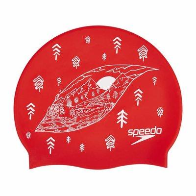 Speedo Slogan Printed Silicone Cap