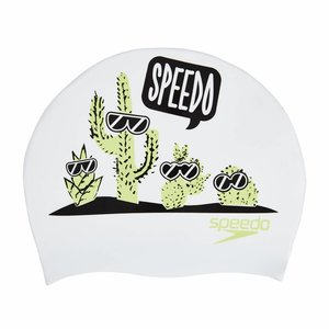 Speedo Junior Slogan badmuts wit