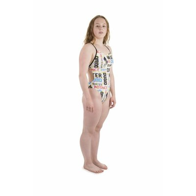 Arena W Evolution One Piece Booster Back Lined white-black