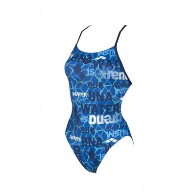 Arena W Evolution One Piece Booster Back Lined pix-blue-navy