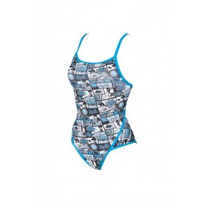 Arena W Comics Super Fly Back One Piece Lined turquoise-black