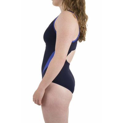 Arena Dames Agate strap Back One Piece C cup Navy - brightblue