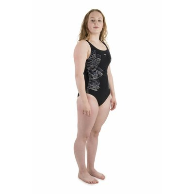 Arena Dames Amber Wing Back One Piece C-cup Zwart