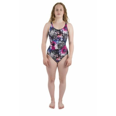 Arena Dames Pearl Wing Back One Piece Zwart