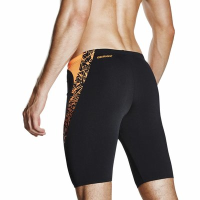 Speedo Endurance Boom Splice Jammer zwart/oranje