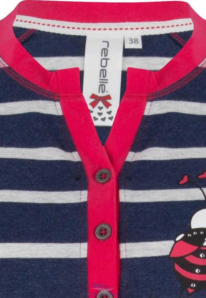 "Rebelle stripey pyjama set ""best ladybird friends"""
