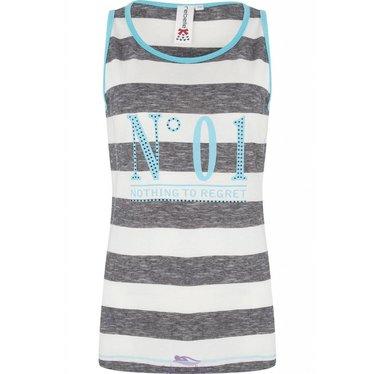 "Rebelle sleeveless striped vest ""No 01"""