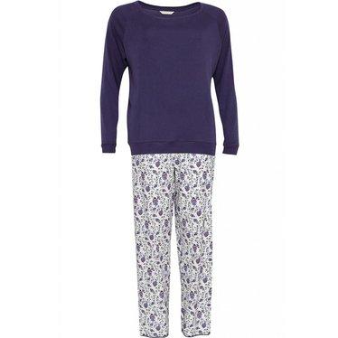 Cyberjammies Mooie paarse katoenen 'bloemen' pyjama set met lange mouwen