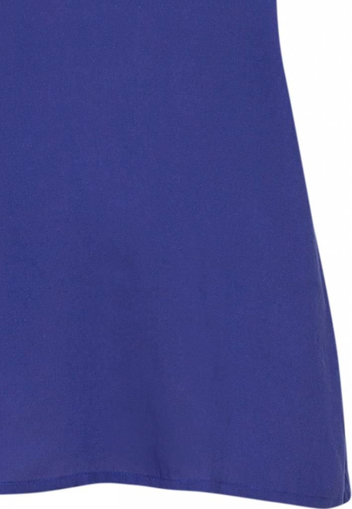 Cyberjammies Paarse stippenprint katoen-modal lange broek met blauwe spaghetti top met verstelbare bandjes