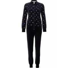 Rebelle velvet cuffed homesuit 'catch a star' with full zip