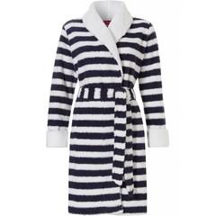 Pastunette coral fleece morninggown 'sailor stripes'