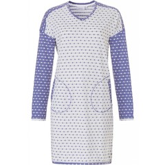 Pastunette long sleeve nightdress  'mad about dots'