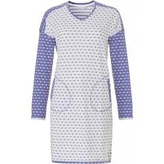 Pastunette nachthemd met lange mouwen 'mad about dots'