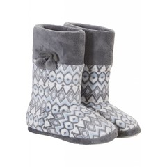 Pastunette fleece slipper boots 'only in your dreams' with pom poms
