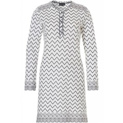 Pastunette Deluxe nachthemd met lange mouwen knoopjes ' soft & pure zig zag lines'