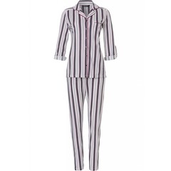 Pastunette Deluxe long sleeve full button pyjama 'fresh bold stripes'(optional turn-up sleeves)